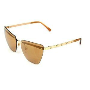 Versace Cat Eye Style Gold Tinted Lens.
